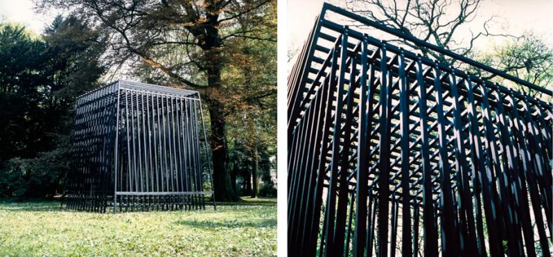 Tijdelijk bouwsel, 4 x 4m, Park Raadhuis de Paauw 1989, Vera Gais