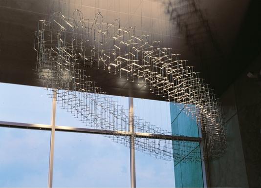 Zwevende ellips, 7.3 x 2.1 x 0.7m, Auditorium Evoluon Eindhoven, Vera Galis