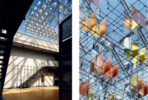 Zwevend object, 5 x 5 x 0.75m, Heerhugowaard, Vera Galis